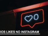 """Coração em neon azul, com a legenda """"fim dos likes no instagram"""""""